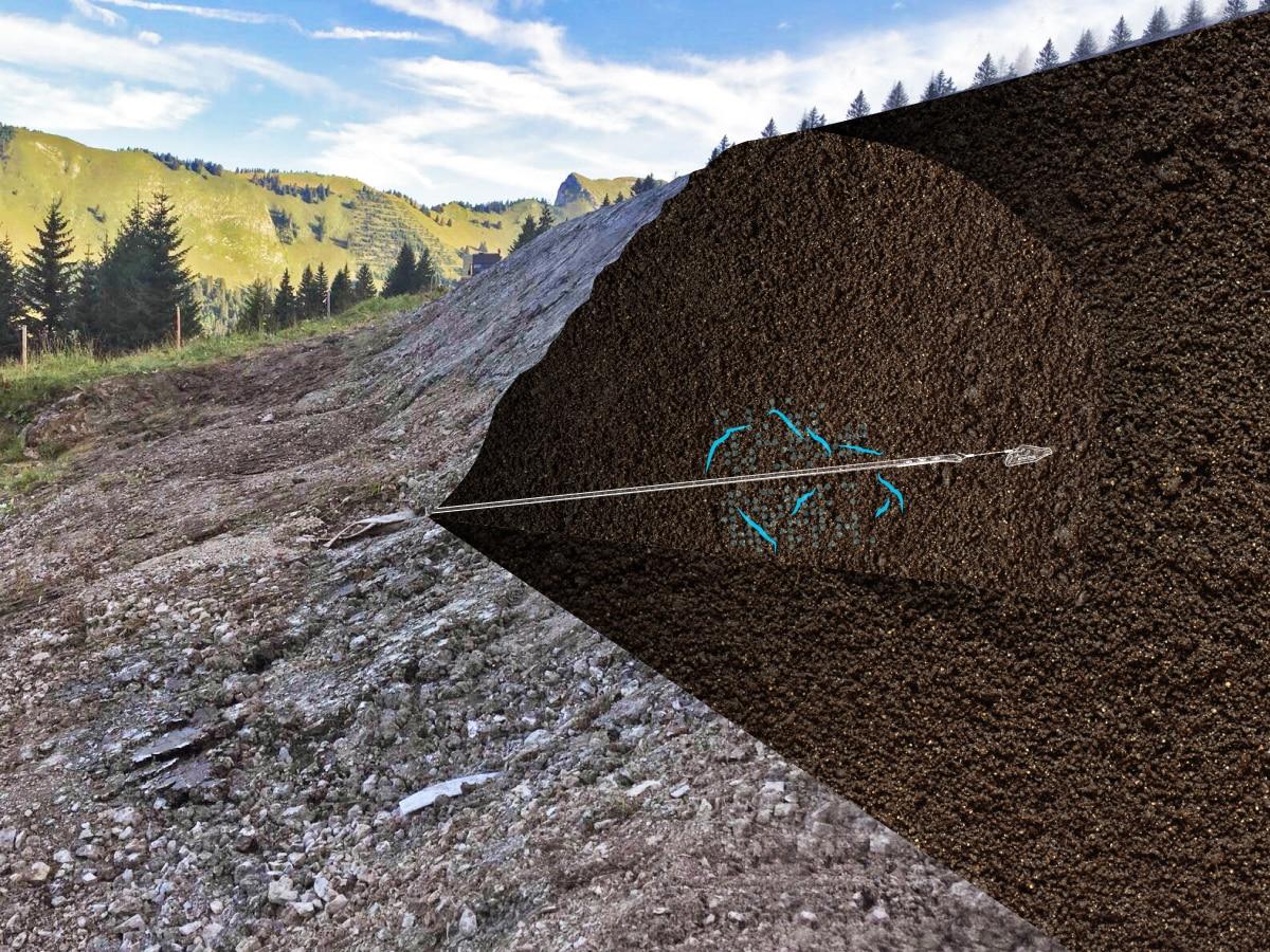 Illustration d'un drainage souterrain avec le système de drainage Plati-Drain