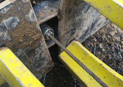 Travaux d'ancrage d'une paroi d'excavation dans un terrassement