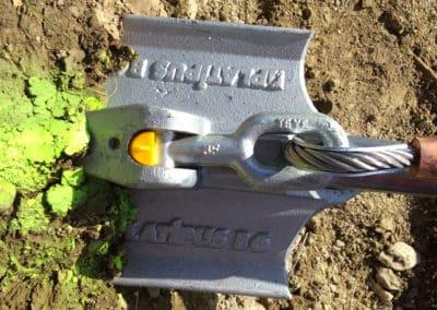 Travaux d'ancrage et de drainage d'un talus avec le système d'ancrage Platipus