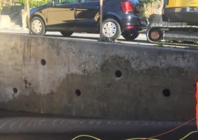 Travaux d'ancrage d'un mur de soutènement à Chexbres par Anteq SA