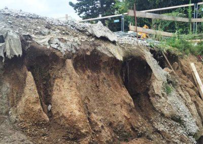 Travaux de mise en sécurité d'une fouille d'excavation par Anteq SA