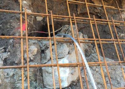 Travaux de mise en sécurité d'une paroi d'excavation avec le système d'ancrage Platipus
