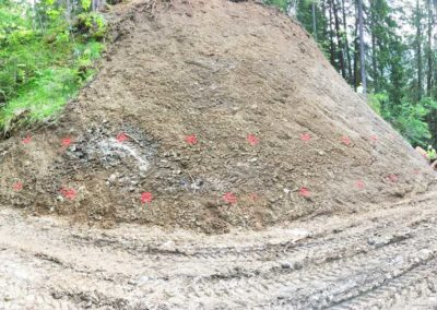 Travaux de stabilisation d'un talus et de prévention contre l'érosion