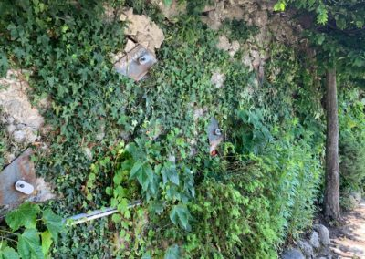 Travaux d'ancrage d'un mur à Chexbres