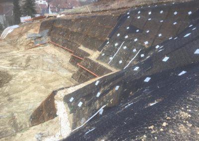 Travaux d'ancrage d'une paroi d'excavation permanente et temporaire