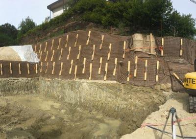 Travaux d'ancrage pour la stabilisation d'une paroi d'excavation à Belfaux