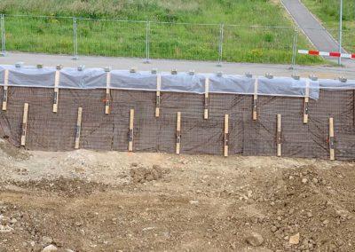 Travaux d'ancrage d'une double paroi d'excavation