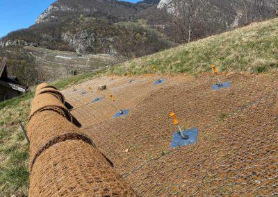Travaux de stabilisation d'un talus et d'une paroi d'excavation à Aigle