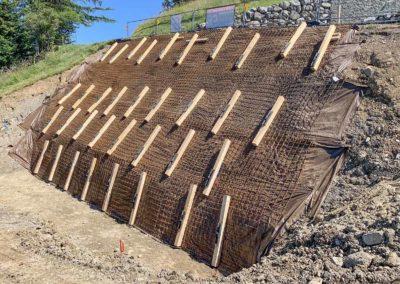 Stabilisation d'une fouille pour la construction d'une maison individuelle