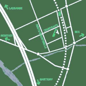 Carte d'accès à l'atelier d'Anteq SA à Bex