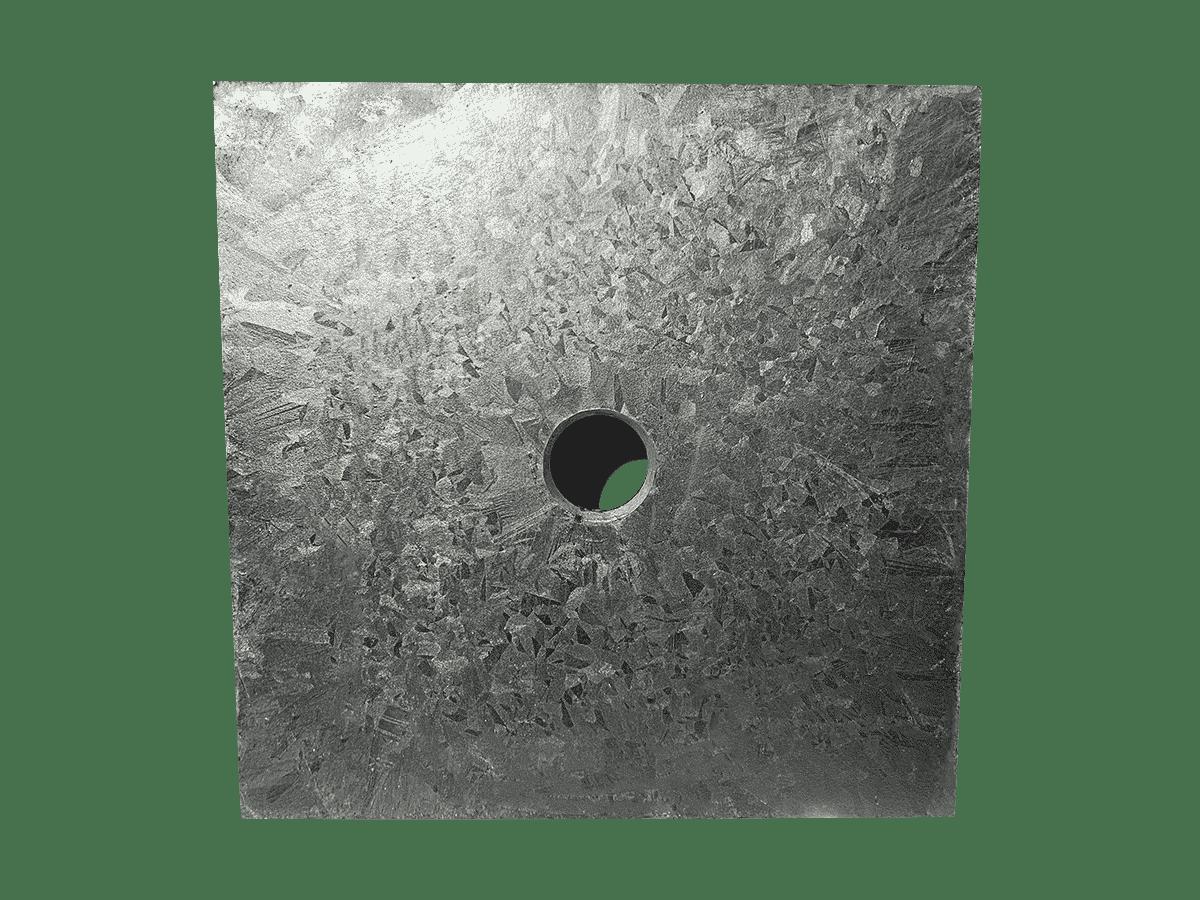 Type de plaque d'ancrage utilisée par Anteq SA - Quadrus