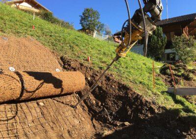 Travaux d'ancrage permanent et temporaire d'une paroi d'excavation à Gryon (VD)