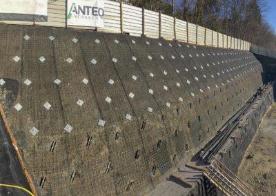 Travaux de blindage permanent et temporaire d'une fouille d'excavation par Anteq SA