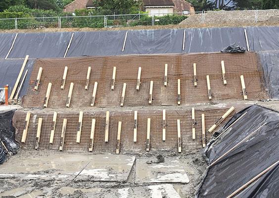BLINDAGE D'UNE PAROI POUR LA CONSTRUCTION DE 3 IMMEUBLES