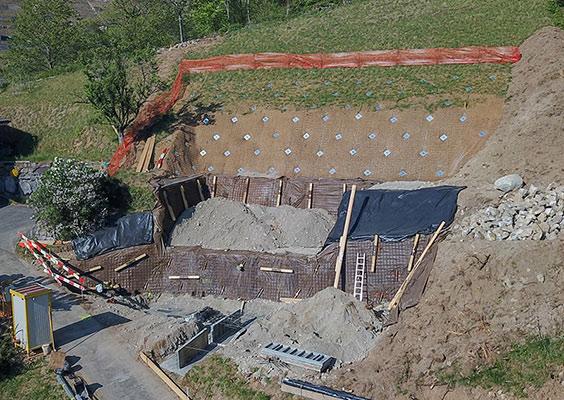 STABILISATION DE TALUS POUR LA CONSTRUCTION D'UNE VILLA