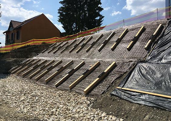 STABILISATION TEMPORAIRE DE TALUS AVANT CONSTRUCTION
