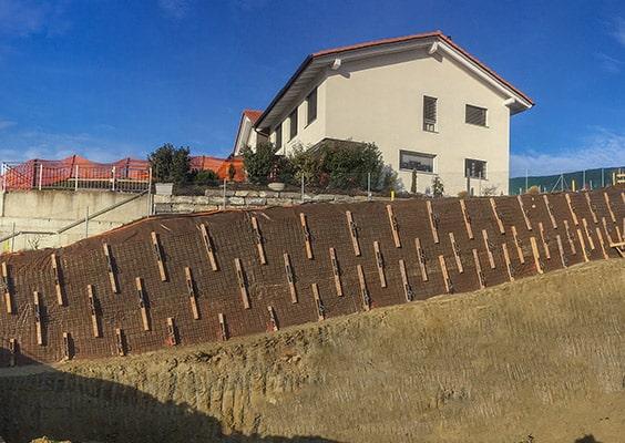 BLINDAGE TEMPORAIRE D'UNE PAROI D'EXCAVATION POUR LA CONSTRUCTION DE 6 LOGEMENTS