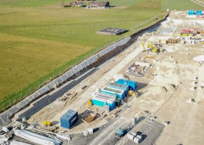 Sécurisation temporaire d'une paroi d'excavation proche des chemins de fer à Trélex