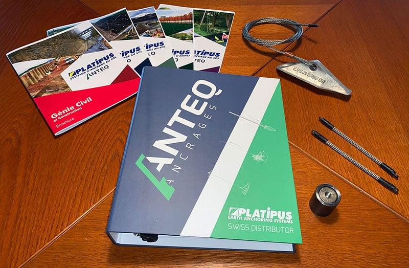 Classeur explicatif du fonctionnement du système d'ancrage par Anteq