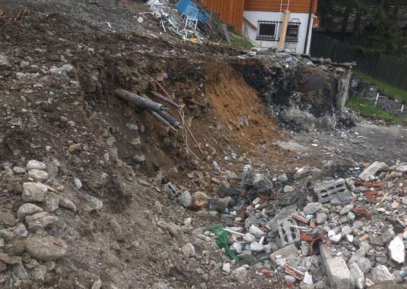 Travaux de blindage d'une paroi d'excavation pour la construction d'un chalet à Villars-sur-Ollon