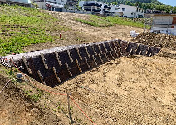 STABILISATION D'UNE PAROI D'EXCAVATION AVANT CONSTRUCTION
